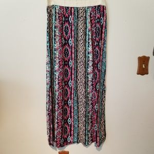 Just Be, Colorful Maxi Skirt.